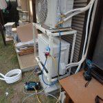 室外機2段置き工事