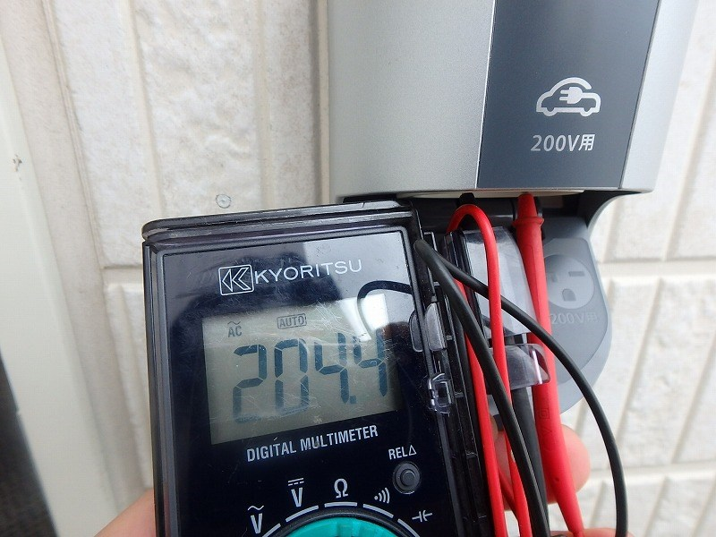 充電コンセント工事