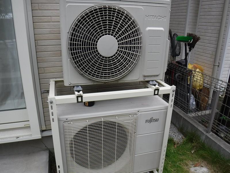 エアコン2段置き金具