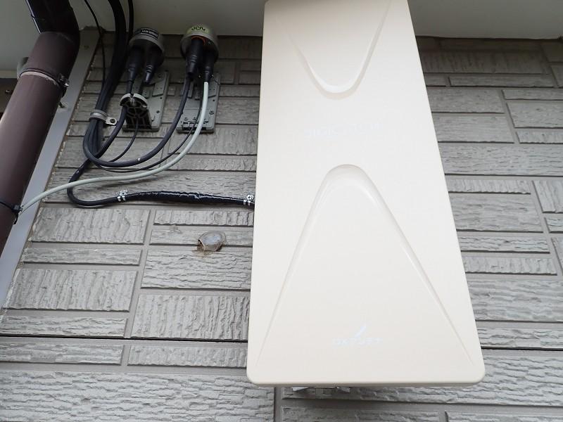 ケーブルテレビをやめてアンテナ取付