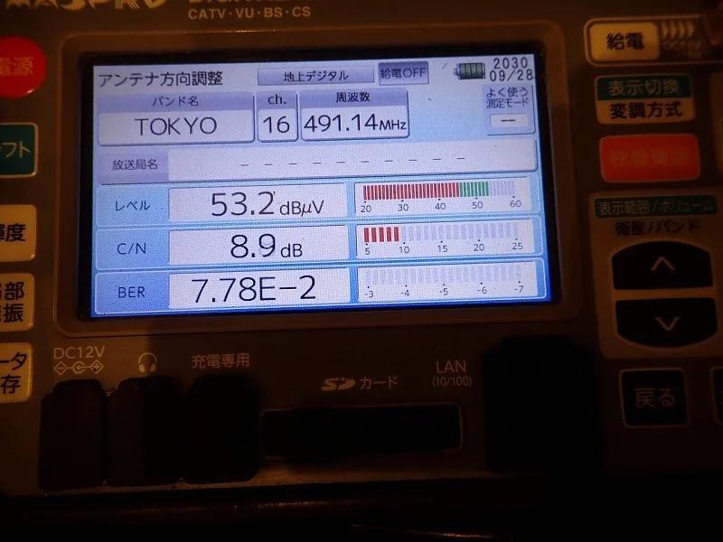 東京MXが映らない工事